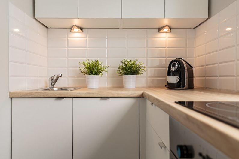 Дизайн кухни 6 кв.м. - освещение и подсветка