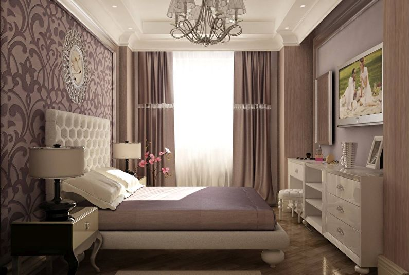 Дизайн спальни 12 кв.м. в классическом стиле