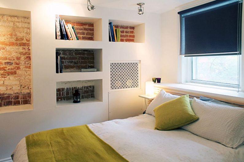 Дизайн спальни 12 кв.м. в стиле лофт