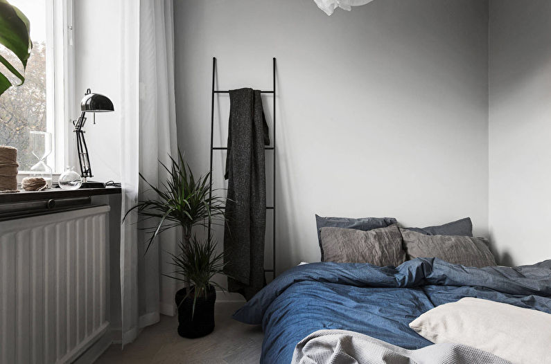 Дизайн спальни 12 кв.м. в скандинавском стиле