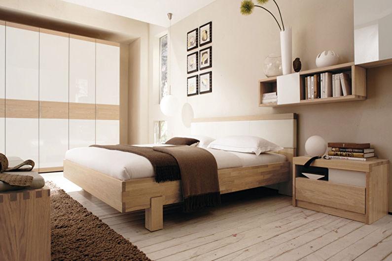 Дизайн спальни 12 кв.м. - отделка пола