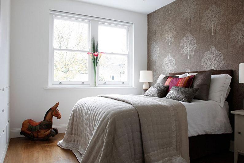 Дизайн спальни 12 кв.м. - отделка стен
