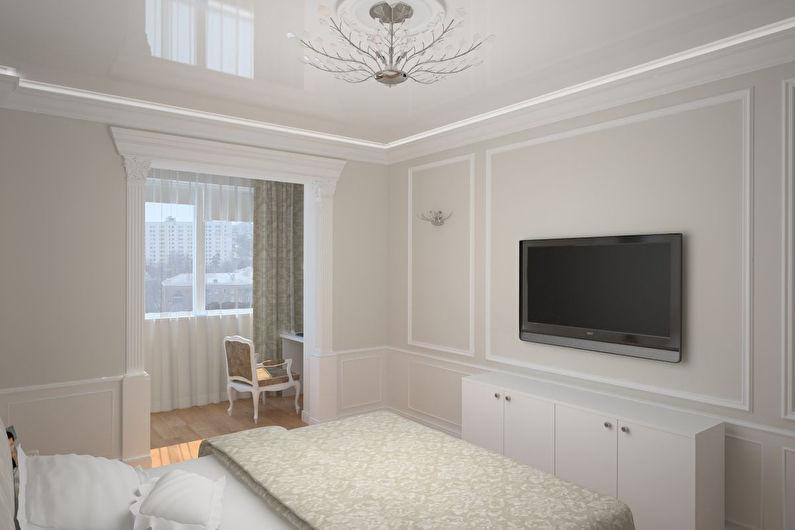 Дизайн спальни 12 кв.м. с балконом