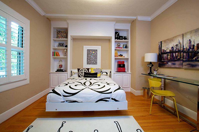 Дизайн интерьера спальни 12 кв.м. - фото