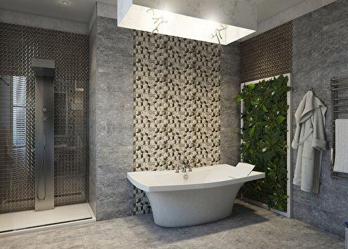 «Натяжение граней»: Ванная в современном стиле