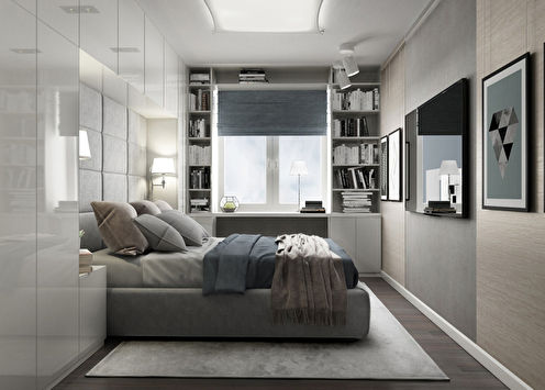 Дизайн спальни в хрущевке: 60 фото-идей