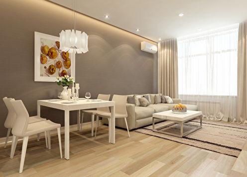 «Медовые оттенки»: Дизайн квартиры