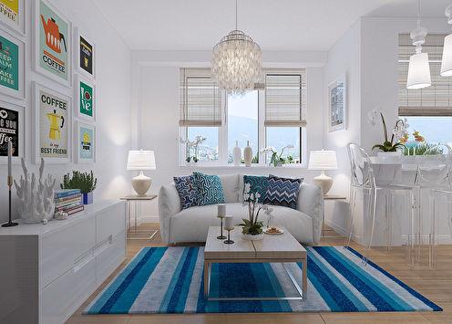 Дизайн маленькой квартиры, Сочи