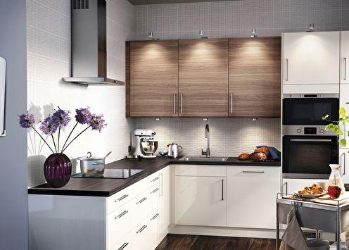 Дизайн маленькой кухни (+75 фото)