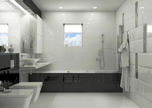 «Гармония контраста»: Ванная 10 м2