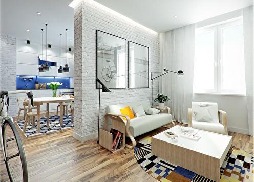 Проект квартиры «NEST», 43 м2