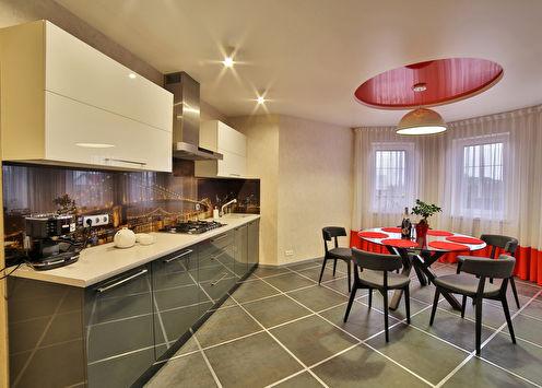 Дизайн кухни «Акценты красного»