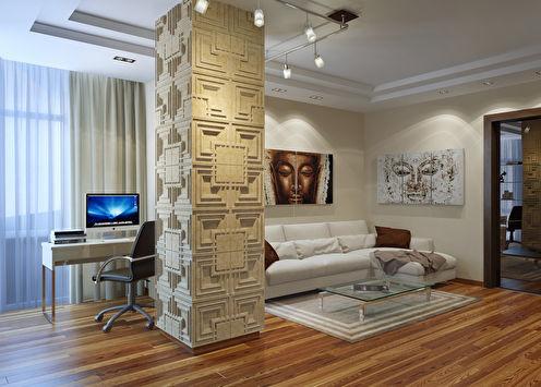 Проект двухкомнатной квартиры, Батуми