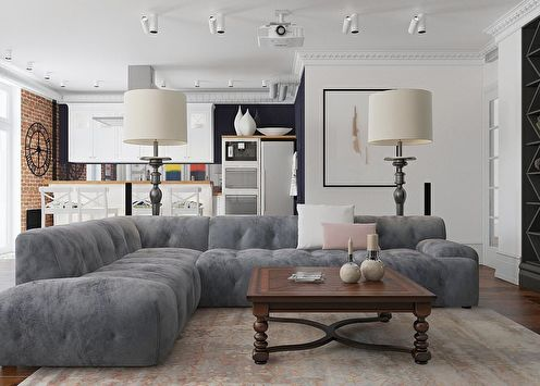 Дизайн однокомнатной квартиры (105 фото)