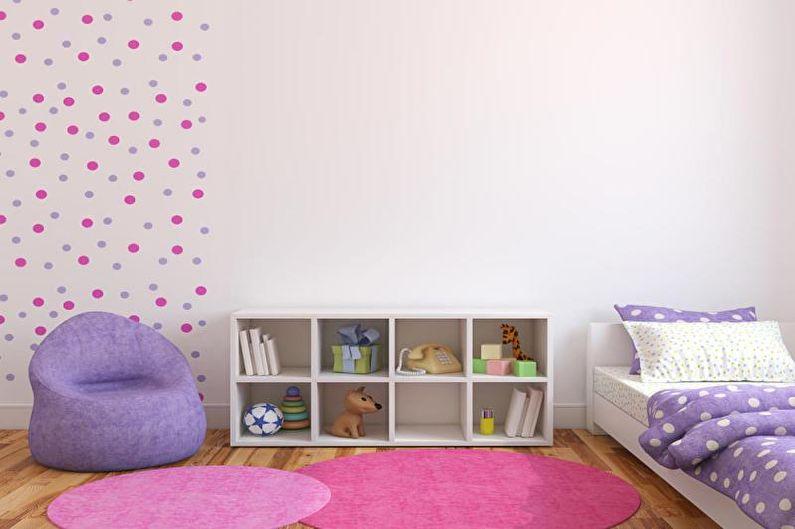 Комбинирование обоев в детской комнате - фото