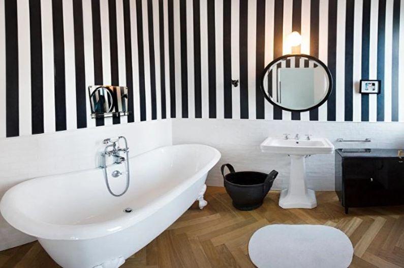 Комбинирование обоев в ванной комнате - фото