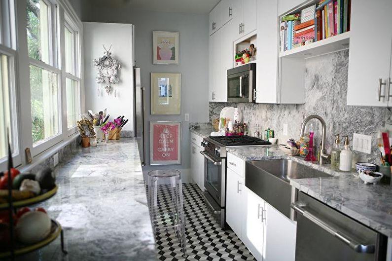 Дизайн узкой кухни - Особенности