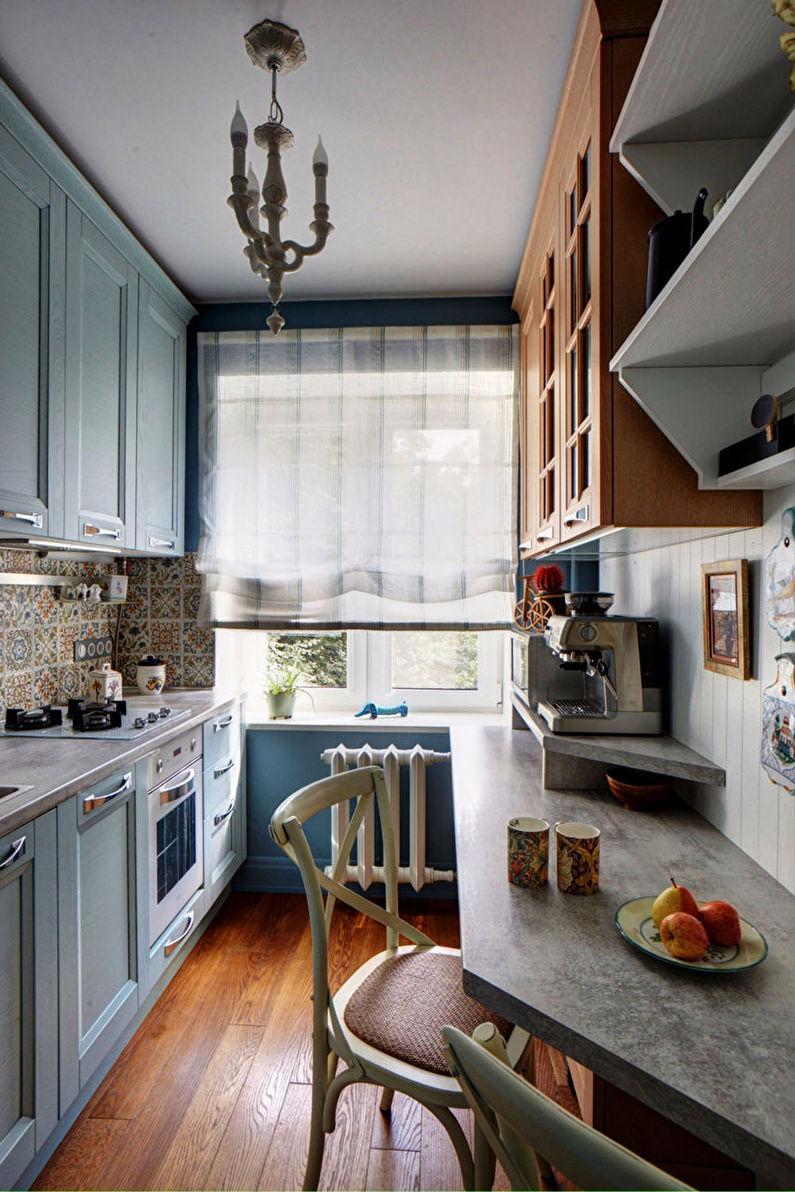 Узкая кухня в стиле прованс - Дизайн интерьера