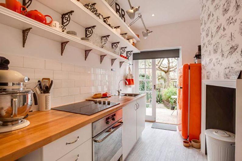Дизайн узкой кухни - Мебель