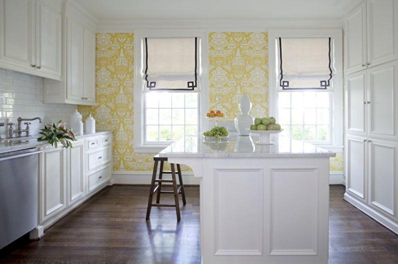 Флизелиновые обои для кухни - фото