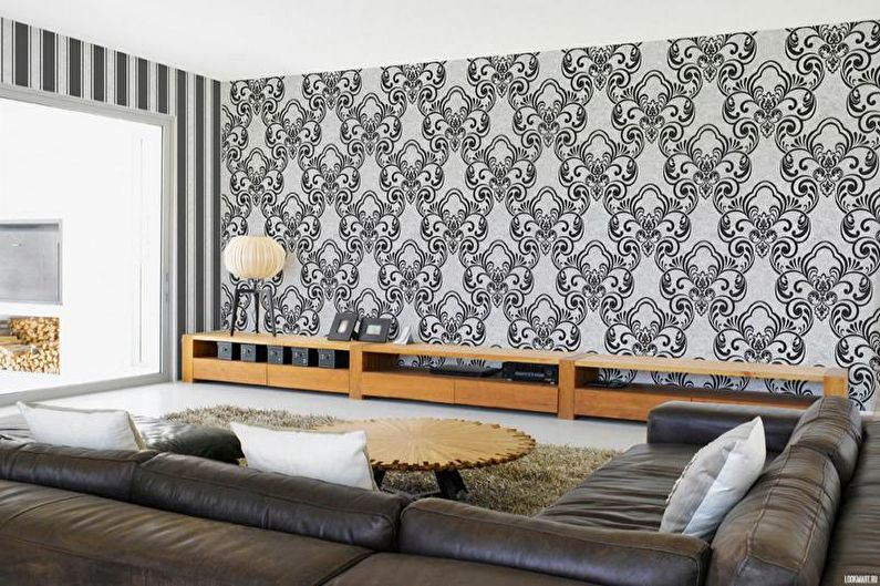 Флизелиновые обои для гостиной - фото