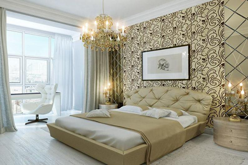 Флизелиновые обои для спальни - фото