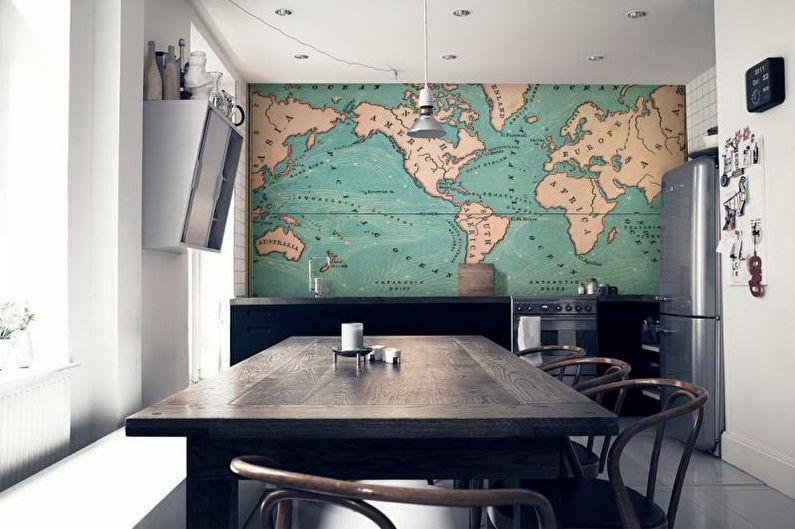 Фотообои на кухню - Виды