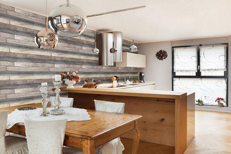 Фотообои на кухне в скандинавском стиле