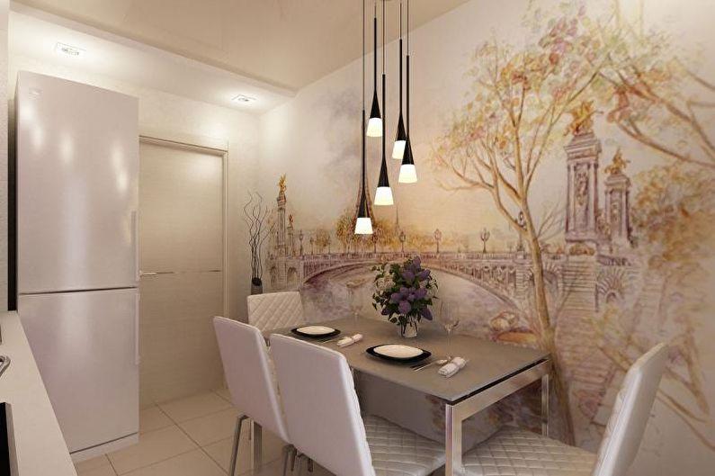 Фотообои на кухню в оттенках пастели