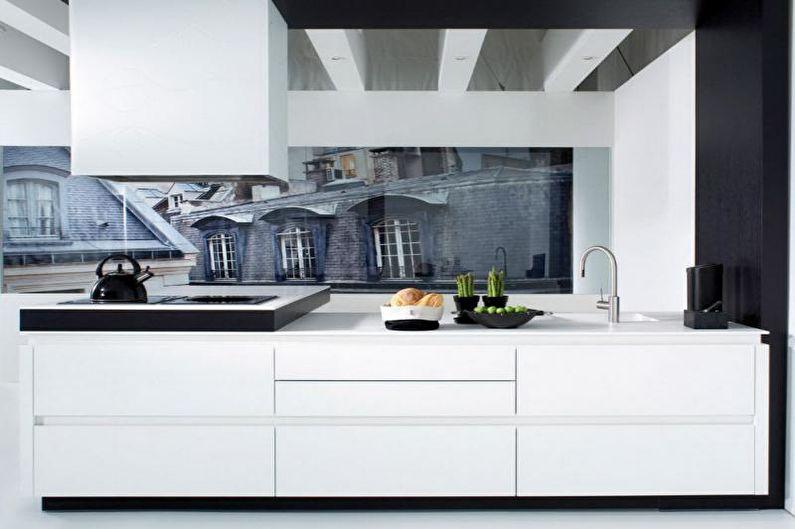 Фотообои на кухню в холодных тонах