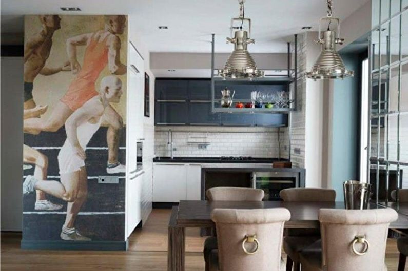 Фотообои в кухне - Нужен ли декор