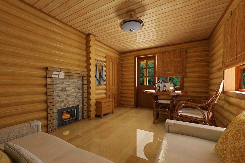 Интерьер бани и комнаты отдыха - Особенности