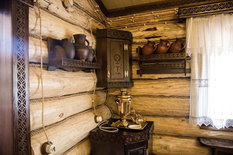 Баня в старорусском стиле - Дизайн интерьера
