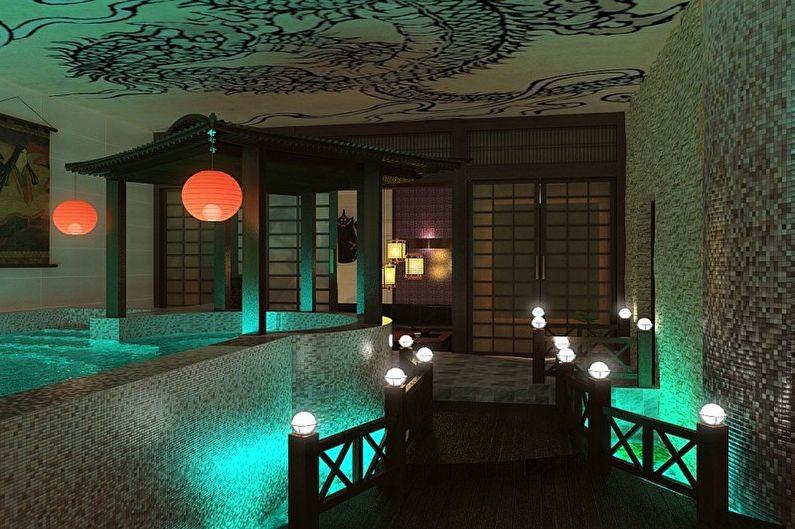 Баня в этническом стиле - Дизайн интерьера