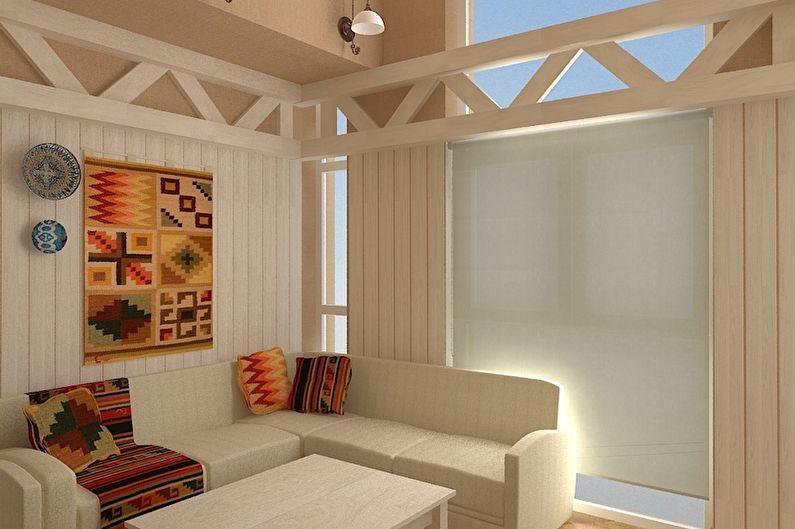 Баня в скандинавском стиле - Дизайн интерьера