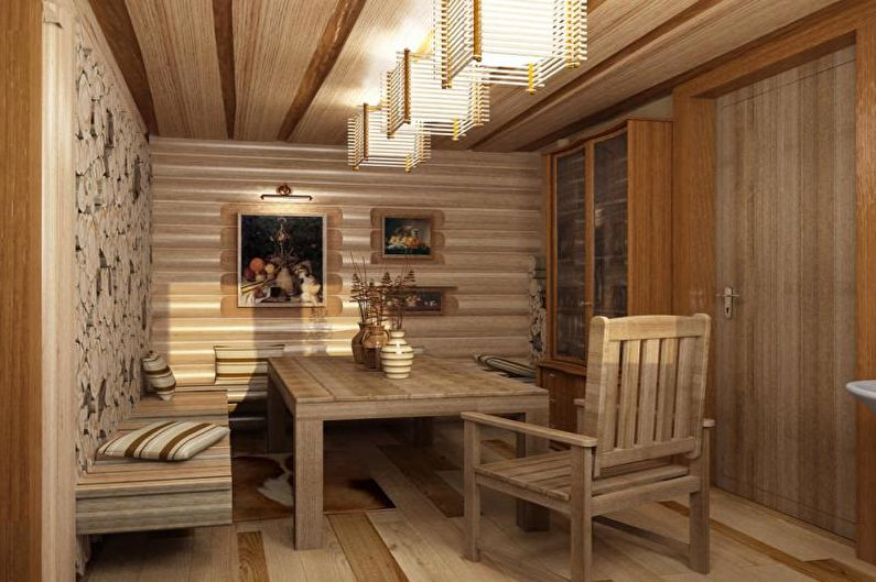Дизайн интерьера бани и комнаты отдыха - фото