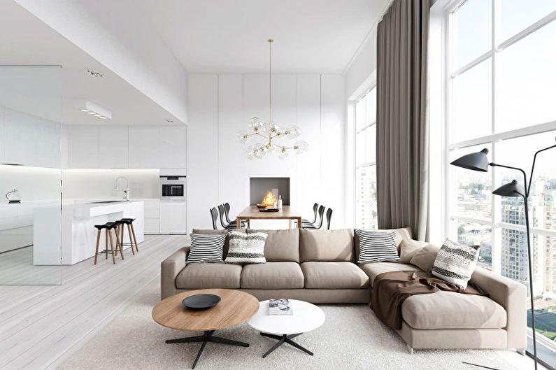 Дизайн гостиной в стиле минимализм - Особенности