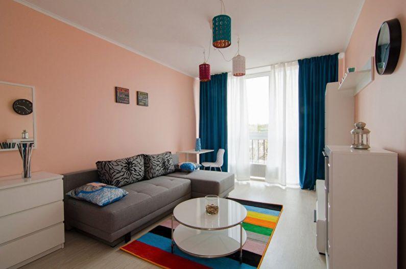 Дизайн гостиной в стиле минимализм - Мебель