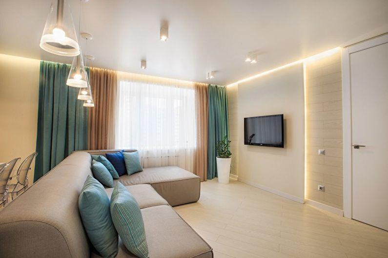 Дизайн гостиной в стиле минимализм - Освещение