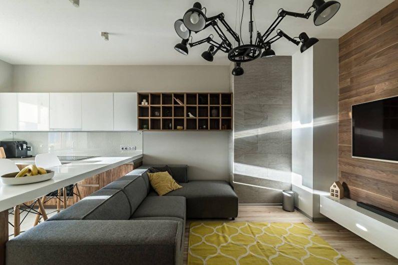 Дизайн гостиной в стиле минимализм - Декор и текстиль