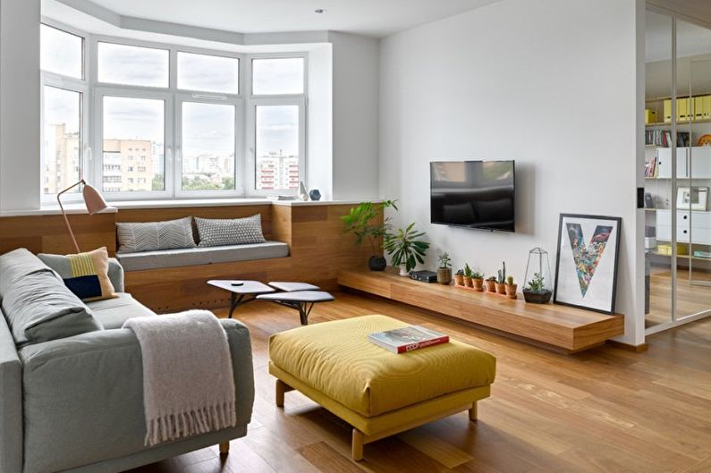 Маленькая гостиная в стиле минимализм - Дизайн интерьера