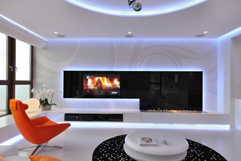 Дизайн квартиры в стиле хай-тек - Особенности