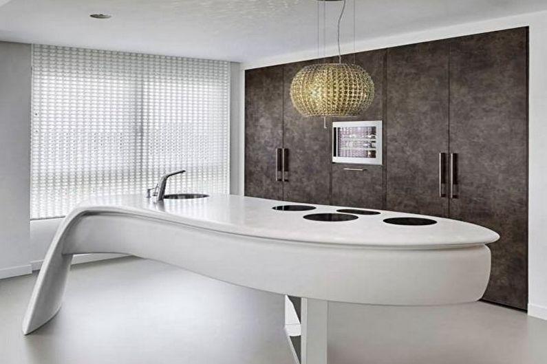 Кухня - Дизайн квартиры в стиле хай-тек