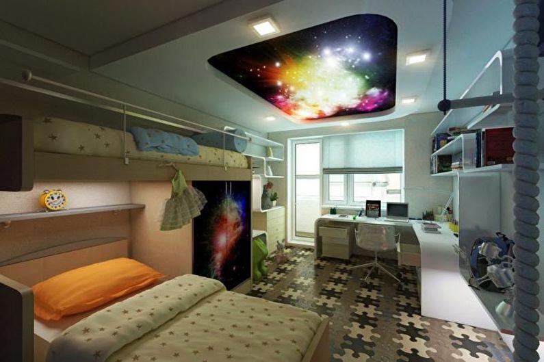 Детская комната - Дизайн квартиры в стиле хай-тек