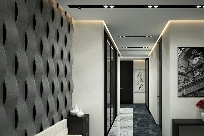 Прихожая - Дизайн квартиры в стиле хай-тек