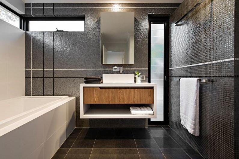 Ванная комната - Дизайн квартиры в стиле хай-тек