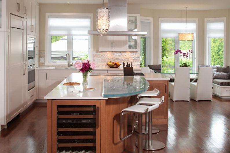 Столешница для кухни из стекла