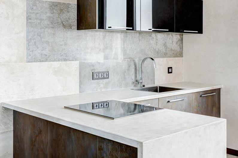 Столешница для кухни из бетона