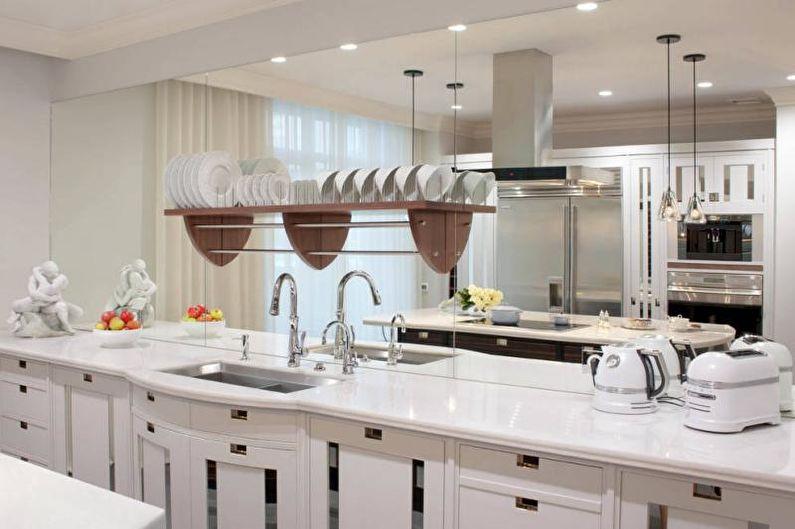 Белая столешница для кухни