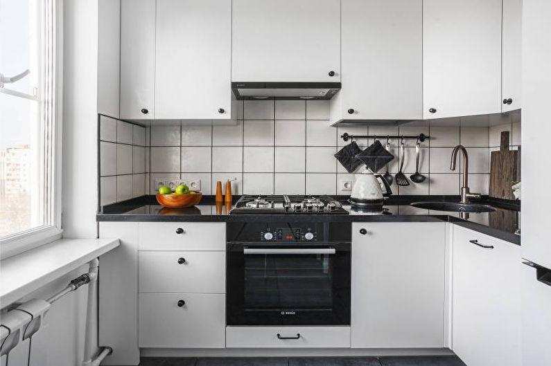 Черная столешница для кухни